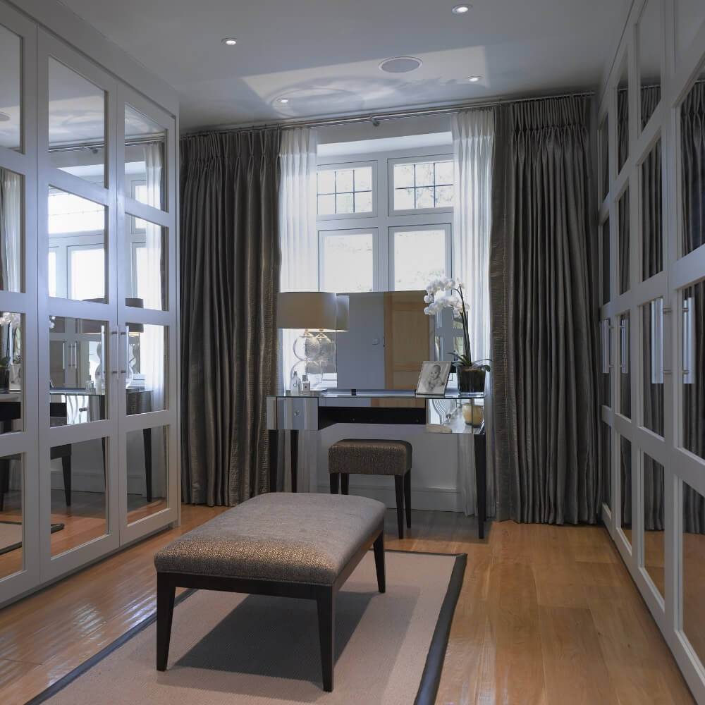 Floor to ceiling fitted wardrobes
