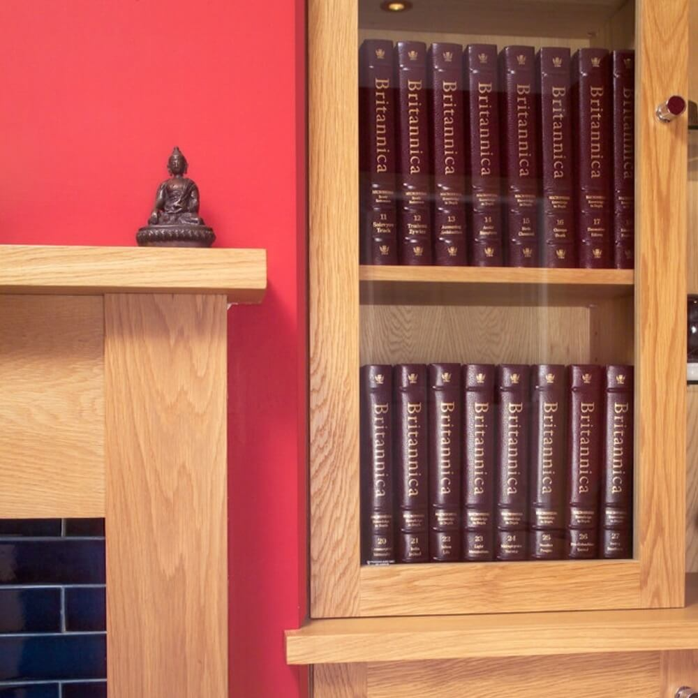 Solid Oak study bookcase