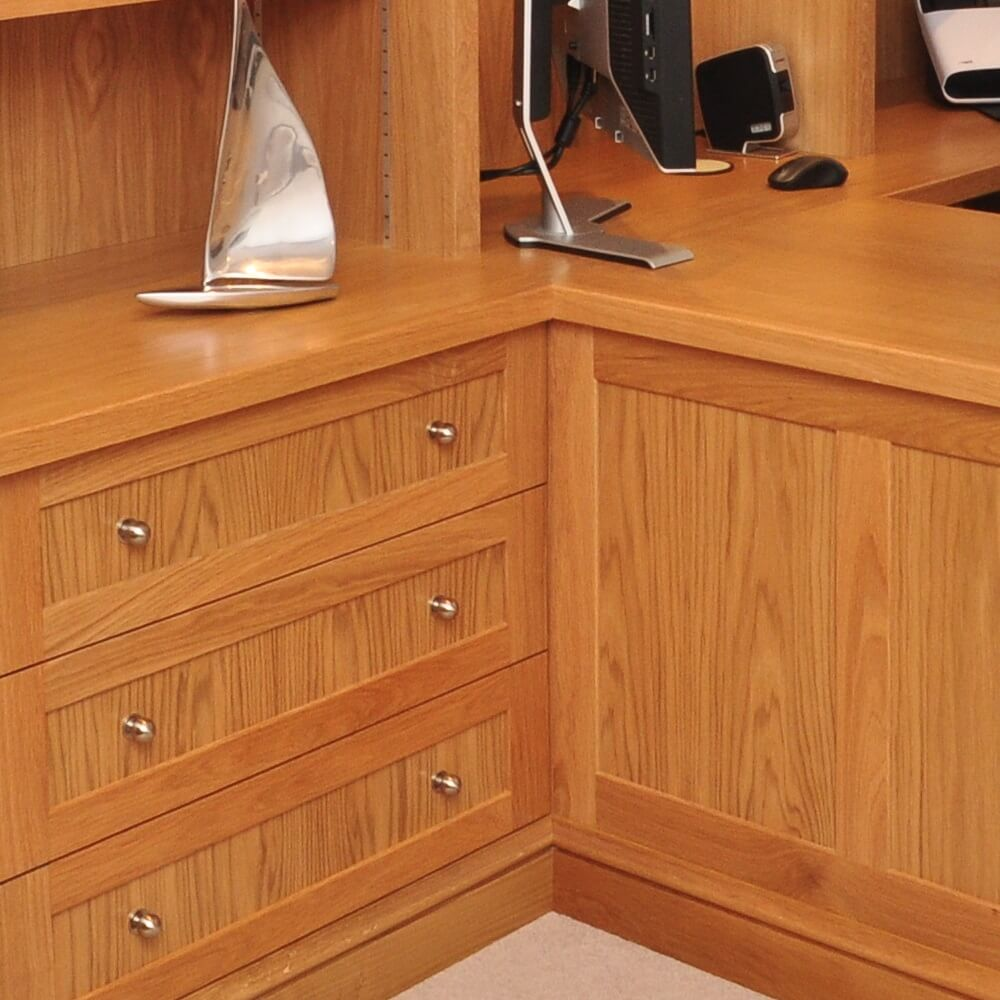 Oak fitted cabinets