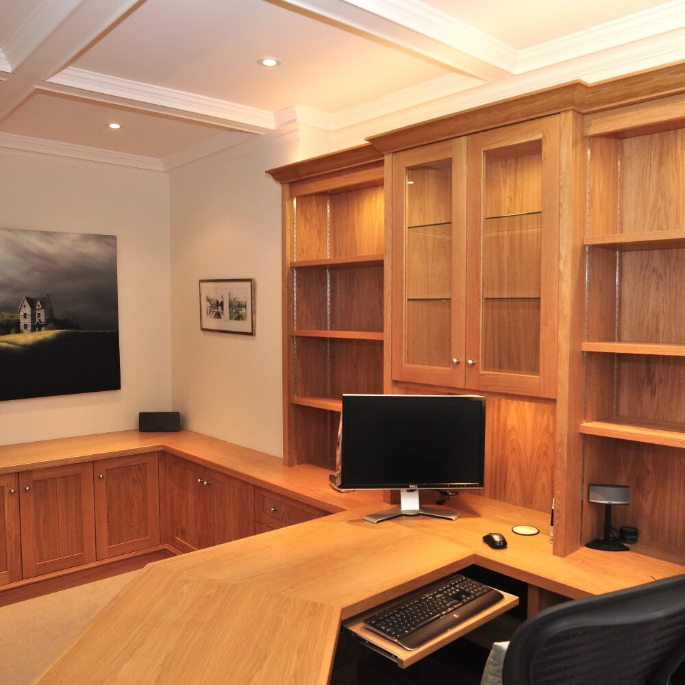 Home Study Furniture Bespoke Traditional Oak Wood Home Study Homewood Furniture