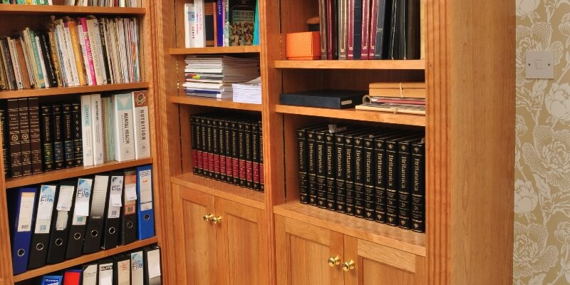 Bespoke Cherry Wood Bookcase