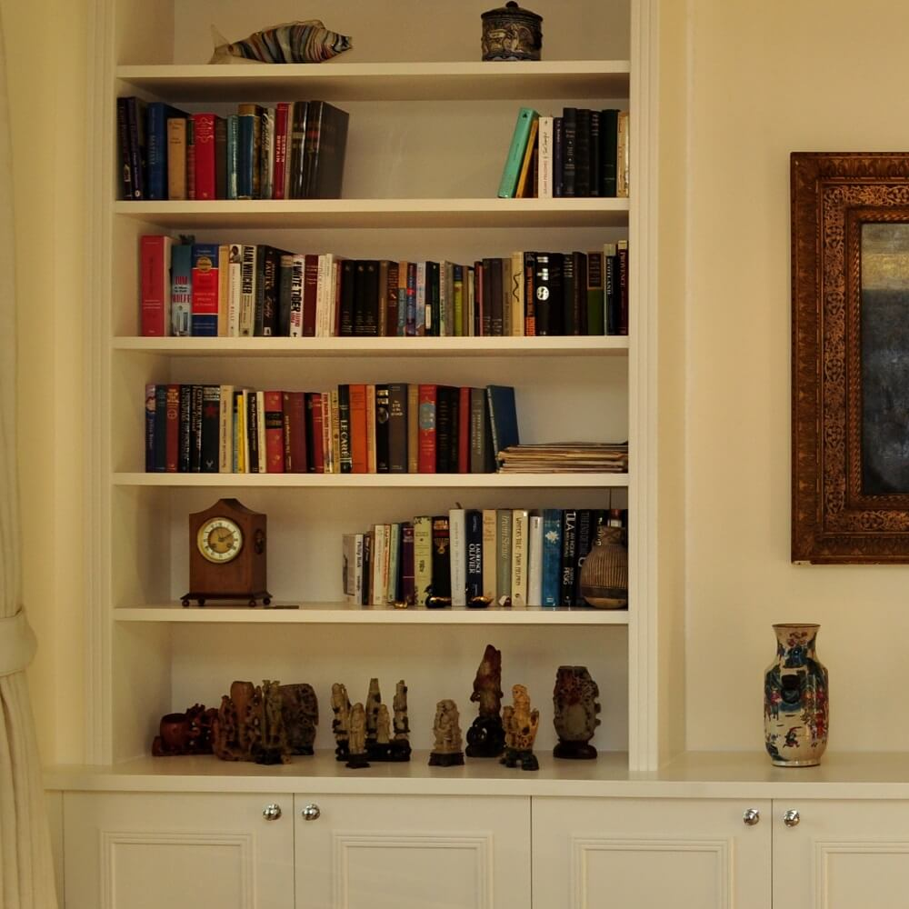 living room display unit bespoke living room display unit with a painted finish 17827